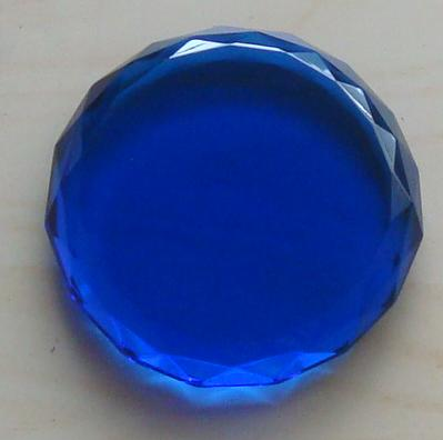 Blue Circle Paperweight